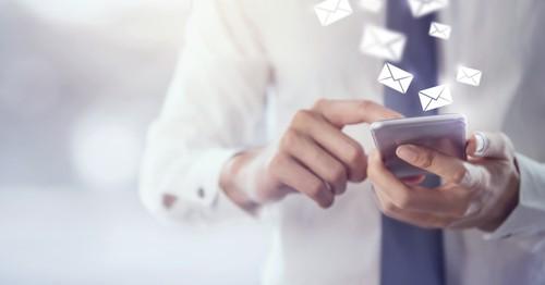 Phone emails