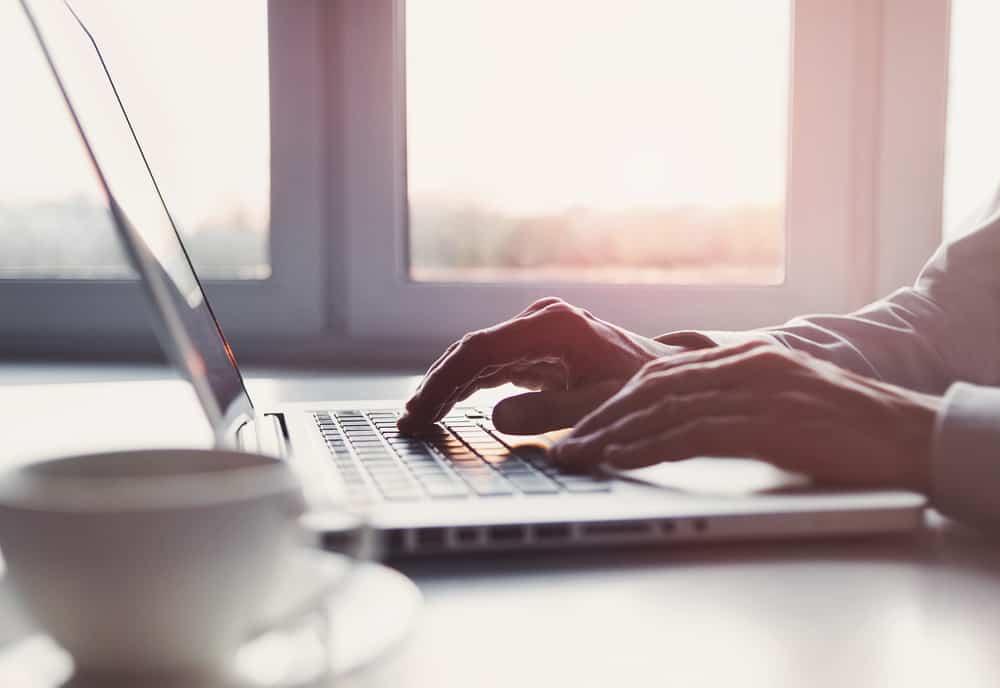 man on laptop computer