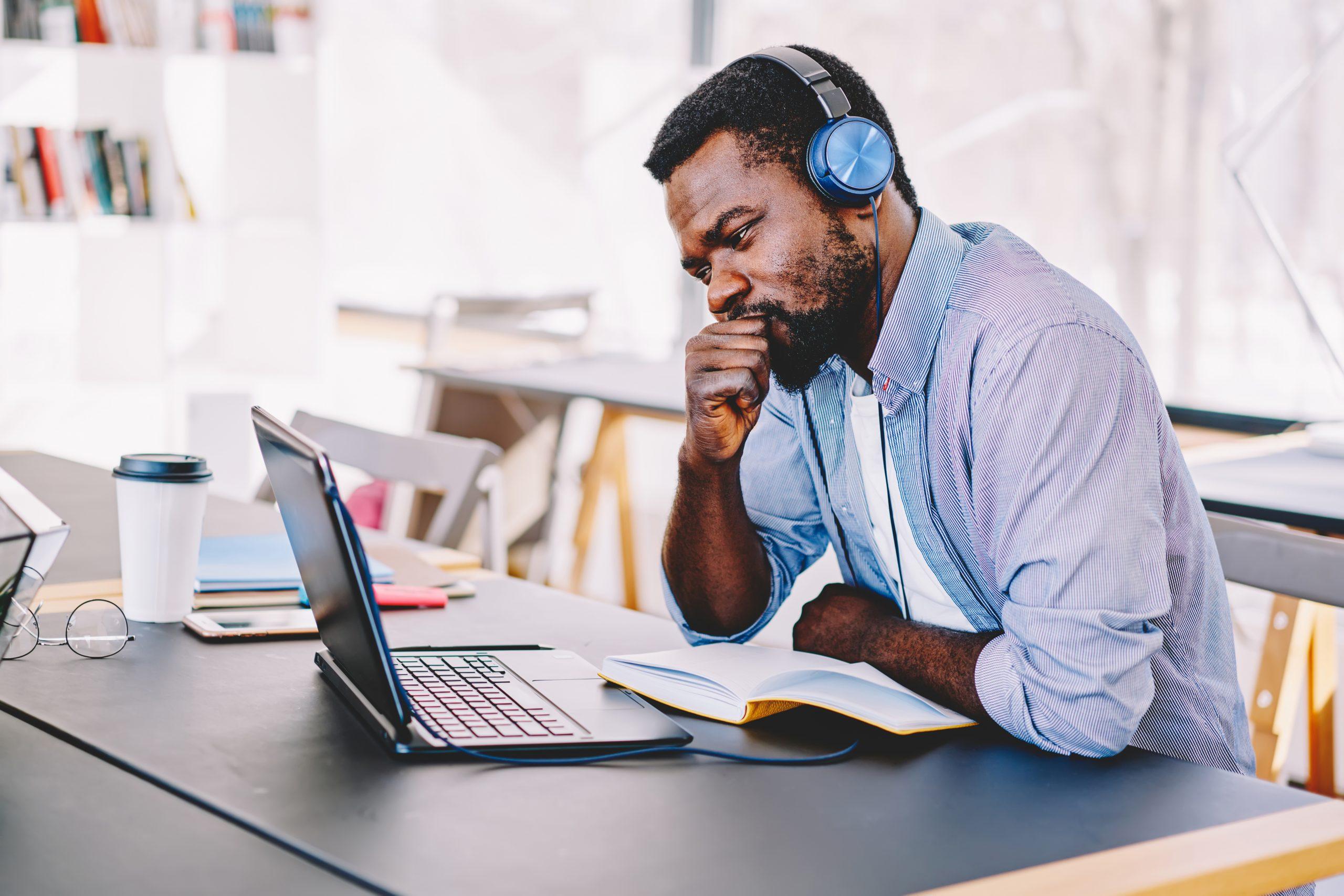 Training Online   black man