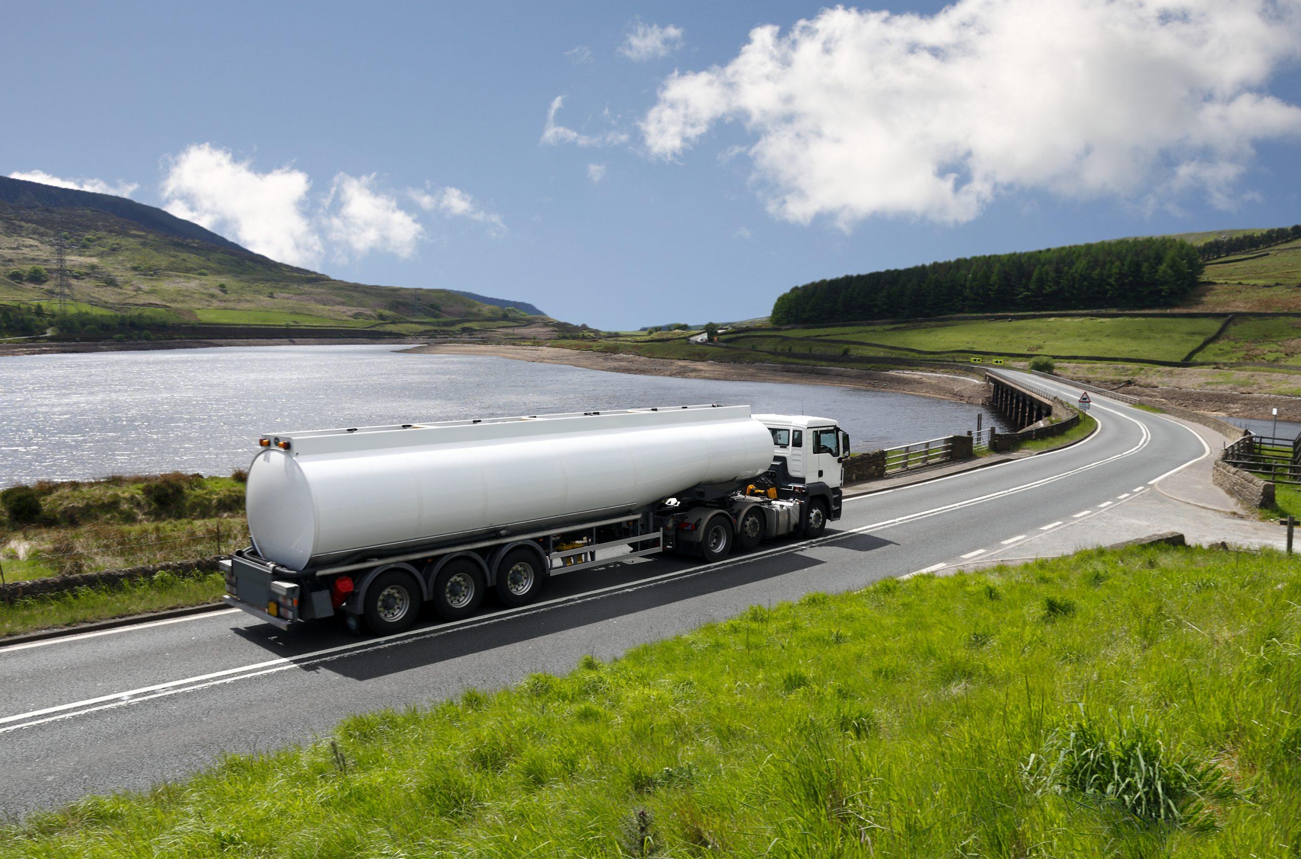 Tanker on UK road