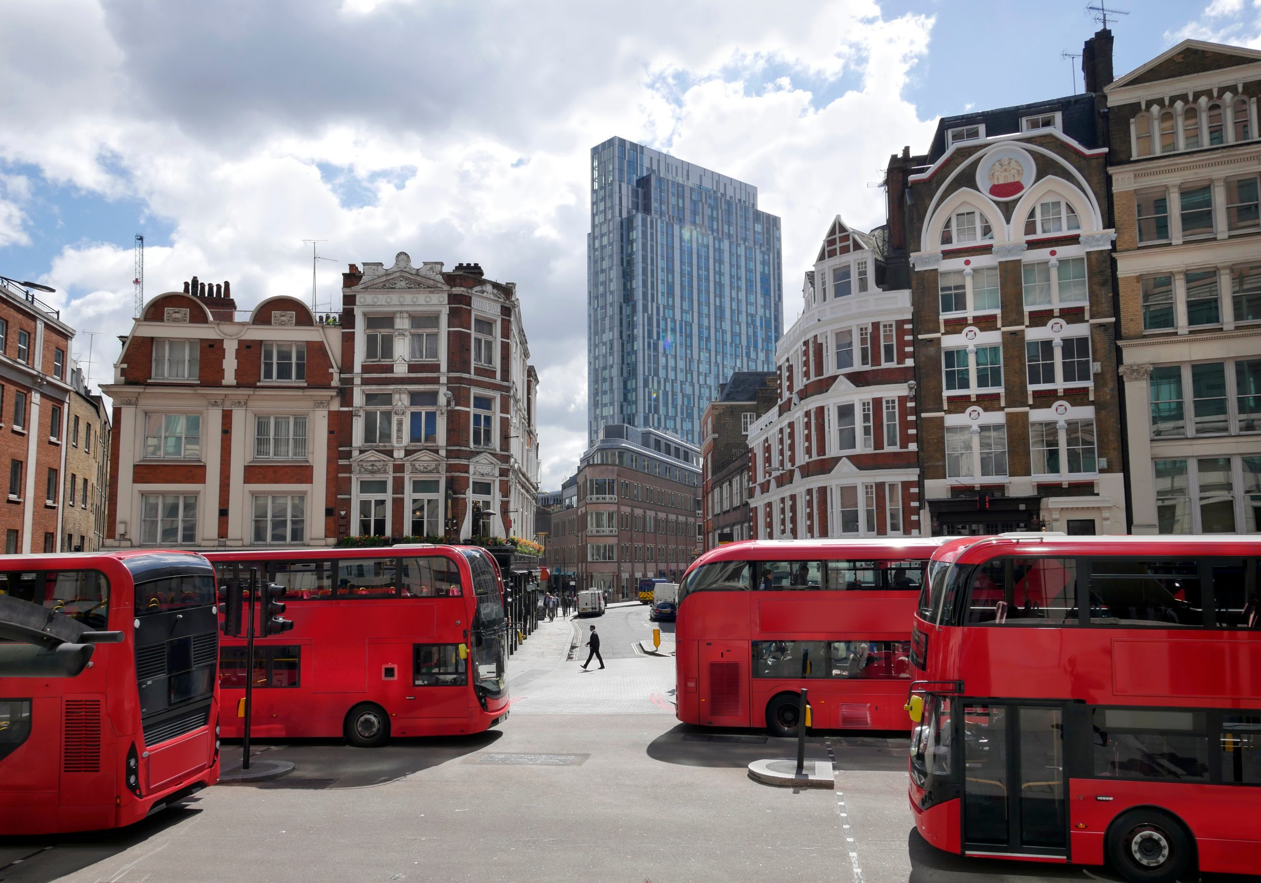 Red buses london   commercial property